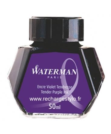 Waterman Flacon 50ml D'encre Violet Tendresse