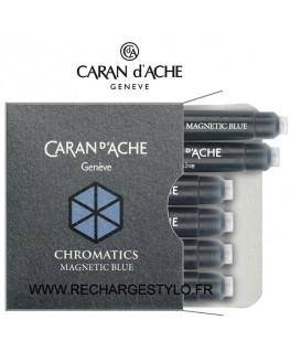 Cartouches d'encre Caran d'Ache Magnetic Blue Réf_8021.149