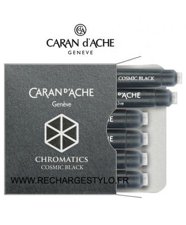 Cartouches d'encre Caran d'Ache Chromatics Cosmic Black Réf_8021.009