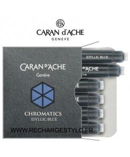 Cartouches d'encre Caran d'Ache Chromatics Idyllic Blue réf_8021.140