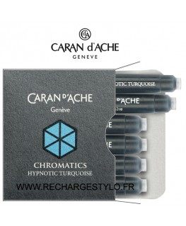Cartouches d'encre Caran d'Ache Chromatics Hypnotic Turquoise Réf_8021.191