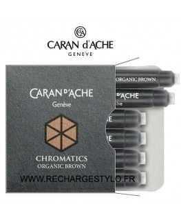 Cartouches d'encre Caran d'Ache Chromatics Organic Brown Réf_8021.049