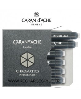 Cartouches d'encre Caran d'Ache Chromatics Infinite Grey Réf_8021.005