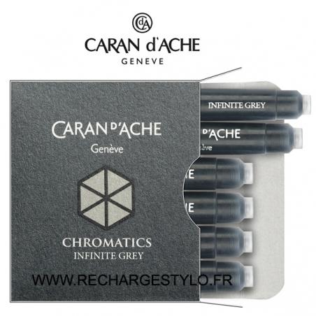 Cartouches d'encre Caran d'Ache Chromatics Infinite Grey Réf_8021.005