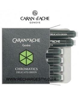 Cartouches d'encre Caran d'Ache Chromatics Delicate Green Réf_8021.221