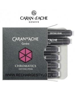 Cartouches d'encre Caran d'Ache Chromatics Divine Pink Réf_8021.080