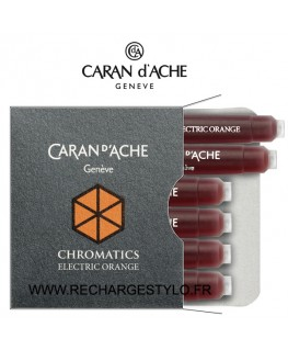 Cartouches d'encre Caran d'Ache Chromatics Electric Orange Réf_8021.052