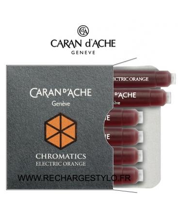 Cartouches d'encre Caran d'Ache Chromatics Electric Orange Réf_8021.052