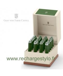 Ecrin de Cartouches d'Encre Graf Von Faber Castell Moss Green 141134