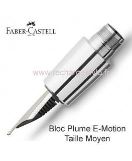 Bloc Plume Faber Castell E-Motion Taille Moyen Réf_148290