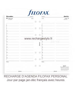 Recharge d'Agenda Filofax Personal Un Jour par Page 2016