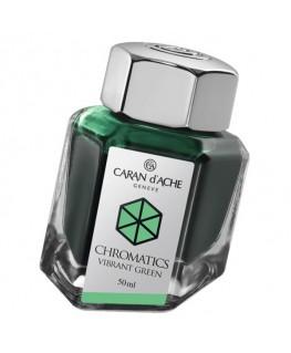 Flacon d'encre Caran d'Ache Chromatics Vibrant Green Réf_8011.210