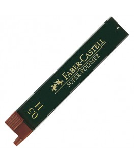 Etui de 12 Mines Super Polymer 0,5mm H Faber-Castell Réf_120511