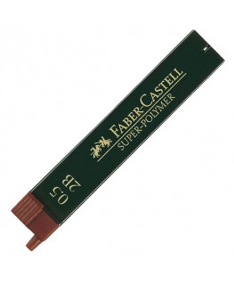 Etui de 12 Mines Super Polymer 0,5mm 2B Faber-Castell Réf_120502