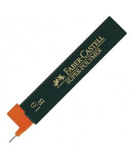 Etui de 12 Mines Super Polymer 1 mm (0,9mm) B Faber-Castell Réf_120901