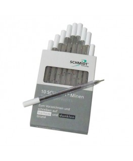 boite-de-10-stylos-bille-argent-silberweiss-schmidt-ref_9812966