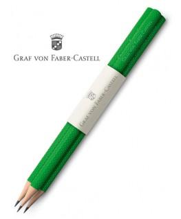 crayons-graphite-graf-von-faber-castell-guilloche-vert-reptile-ref_118629