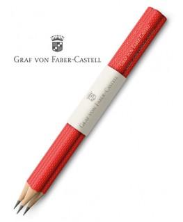 crayons-graphite-graf-von-faber-castell-guilloche-rouge-indien-ref_118632