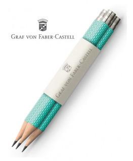 crayons-graphite-de-poche-graf-von-faber-castell-guilloche-turquoise-ref_118660