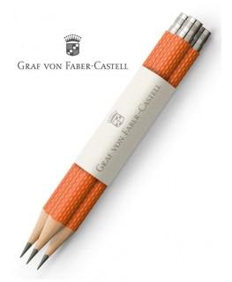 crayons-graphite-de-poche-graf-von-faber-castell-guilloche-orange-ref_118661