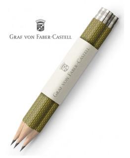 crayons-graphite-de-poche-graf-von-faber-castell-guilloche-vert-olive-ref_118663