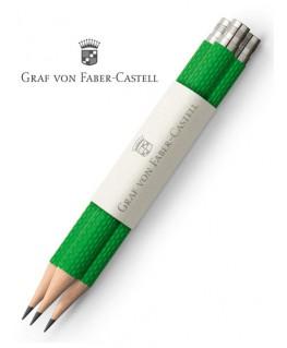 crayons-graphite-de-poche-graf-von-faber-castell-guilloche-vert-reptile-ref_118666