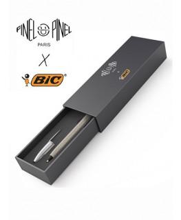 ecrin-stylo-bic-cristal-gainage-en-cuir-gris-pinel-et-pinel_a-20-05435