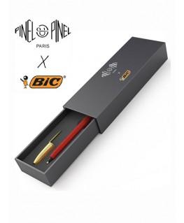 ecrin-stylo-bic-cristal-gainage-en-cuir-rouge-pinel-et-pinel_a-20-05275