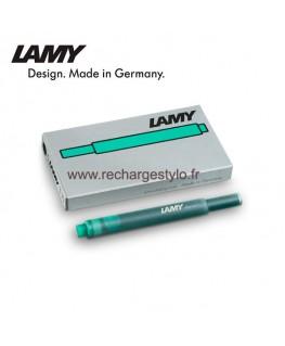 Boite de 5 cartouches d'encre Lamy T10 Vert Réf_1211478