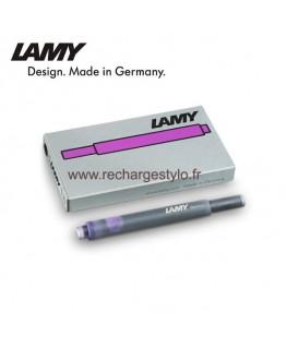 Boite de 5 cartouches d'encre Lamy T10 couleur Violet réf_1205783