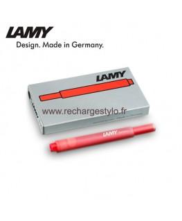 Boite de 5 Cartouches d'encre Lamy T10 Rouge Réf_1202076