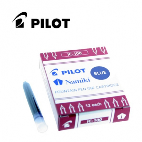 Cartouches d'encre Pilot/Namiki Bleu IC-100-L