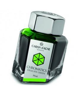 Flacon d'encre Caran d'Ache Chromatics Delicate Green Réf_8011.221