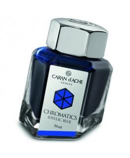 Flacon d'encre Caran d'Ache Chromatics Idyllic Blue Réf_8011.140