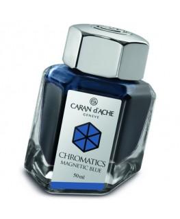 Flacon d'encre Caran d'Ache Chromatics Magnetic Blue Réf_8011.149