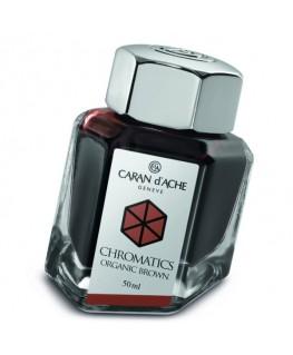 Flacon d'encre Caran d'Ache Chromatics Organic Brown Réf_8011.049