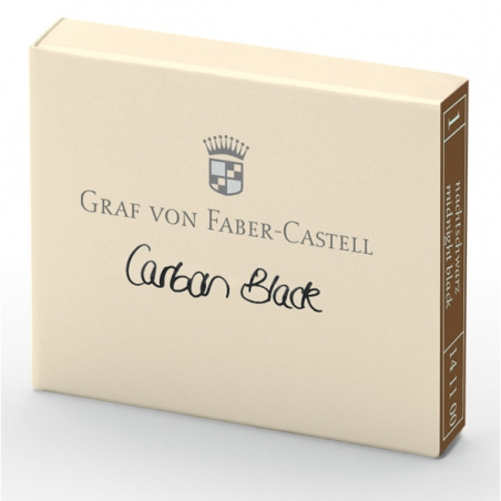 Cartouche D'encre Graf von Faber Castell Carbon Black 141100