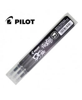 Pilot Lot de 3 Recharges Roller Frixion Ball Noir BLS-FR7-B-S3