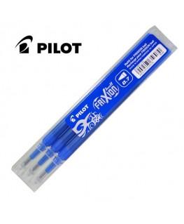 Pilot Lot de 3 Recharges Roller Frixion Ball Bleu BLS-FR7-L-S3