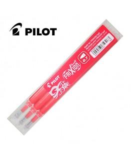 Pilot Lot de 3 Recharges Roller Frixion Ball Rouge BLS-FR7-R-S3