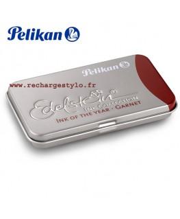 Boite de 6 cartouches d'encre Pelikan Edelstein Rouge Garnet