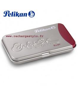 Boite de 6 cartouches d'encre Pelikan Edelstein Rouge Ruby 339 663