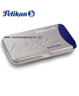 Boite de 6 cartouches d'encre Pelikan Edelstein Bleu Sapphire 339 610