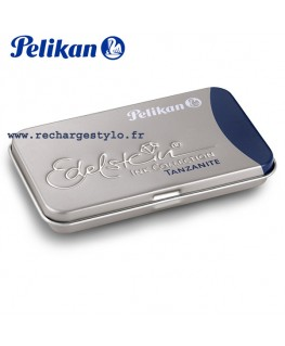 Boite de 6 cartouches d'encre Pelikan Edelstein Bleu nuit Tanzan