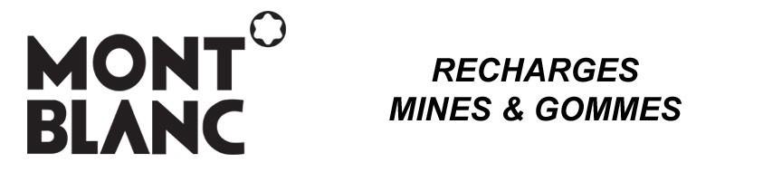 Recharges mines et gommes Montblanc