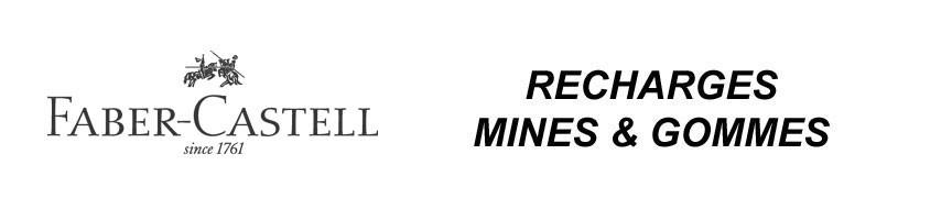 Recharges de mines et gommes pour les stylo porte-mine Faber-Castell