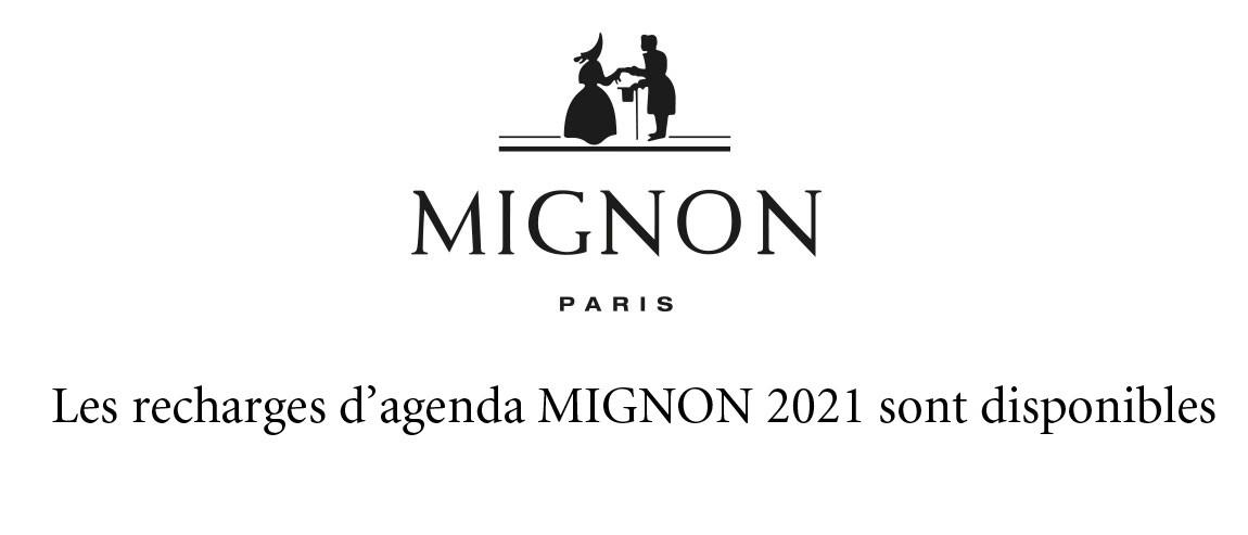 Recharges d'agenda Mignon